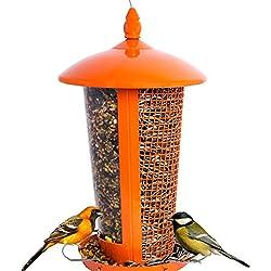 El Mejor Alimentador de Aves Silvestres para Decorar tu Casa o Jardín, Diseñado para todo tipo de Semillas, Cacahuetes y Frutas Secas, es Perfecto para pajaros pequeño, mediano y grandes, Comedero Decorativo para Exterior. Ideal para Regalar a tu Familia o Amigos