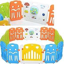 LCP Kids Corral XL Parque de juegos infantil con gran elemento con integrados Juguetes / bebé barrera de seguridad - EN 71 certificado