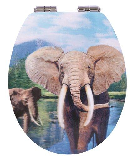TrendLine WC-Sitz Elefant 3D-Design Motiv Toilettensitz Toilettendeckel