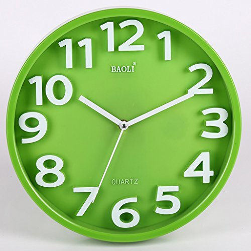 Andea Wanduhr Schlafzimmer Wohnzimmer Mute Uhr Gehängt Große Tabelle Quarz  Uhren Einfache Grün