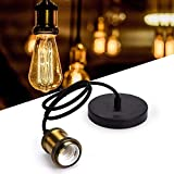 Fassung Retro E27 Lampenfassung Vintage Pendelleuchte Bronze farbe Hängelampe mit 1.2m Kable für esstisch Esszimmer cafe Ohne Glühbirne
