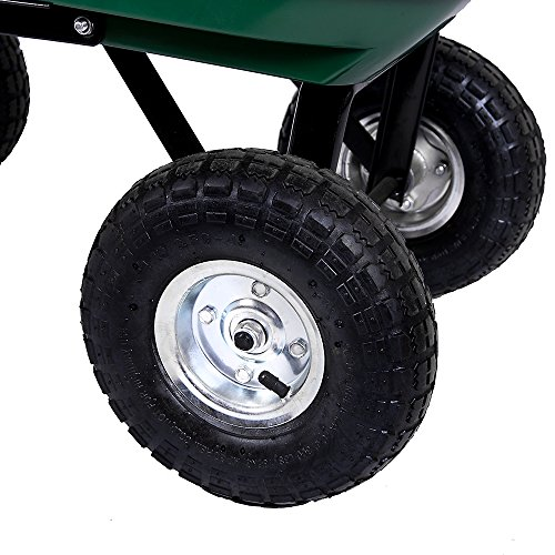 Home Discount Dump Cart Wheelbarrow Garden Tipper Truck Trolley Heavy Duty