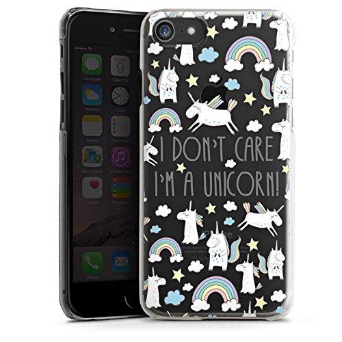 Apple iPhone X Silikon Hülle Case Schutzhülle Transparent mit Motiv Spruch Einhorn Hard Case transparent
