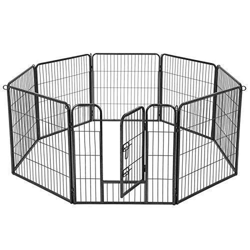 FEANDREA Recinzione Recinto per Cani Conigli roditori Animali Rete Gabbia di 8pz Ferro