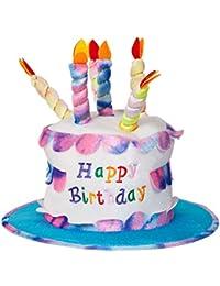 Adulto Torta del feliz cumpleaños con las velas del sombrero del partido del vestido de lujo del accesorio divertido Nueva