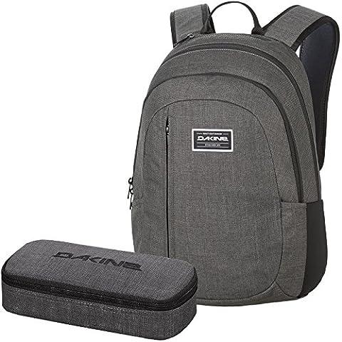 DAKINE 2er SET Laptop Rucksack Schulrucksack 22l FACTOR + SCHOOL CASE XL Mäppchen Carbon