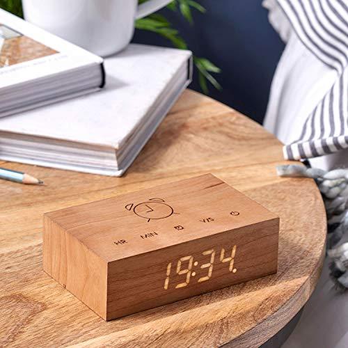 Gingko - Reloj Despertador LED Activado Sonido tecnología
