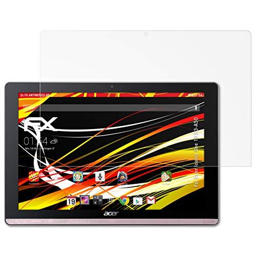 atFolix Schutzfolie kompatibel mit Acer Iconia One 10 B3-A50 Bildschirmschutzfolie, HD-Entspiegelung FX Folie (2X)