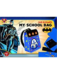Toyztrend Create Your Own School Bag Batman For Creative And Artistic Kids. DIY Kit For Kids