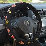 Auto coprivolante universaleStampa 3D tridimensionale Flanella Lady Cartoon Carino Fiore Farfalla Coprivolante Modello Beetle 38cm
