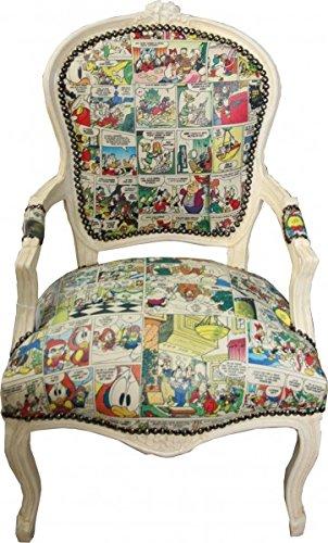 Casa-Padrino Barroco salón Silla Caricaturas/Crema Antiguo - Muebles de Estilo Antiguo