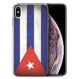 Stuff4 Coque de Coque pour Apple iPhone XS Max/Cuba/Cubain Design/Drapeau Amérique Collection