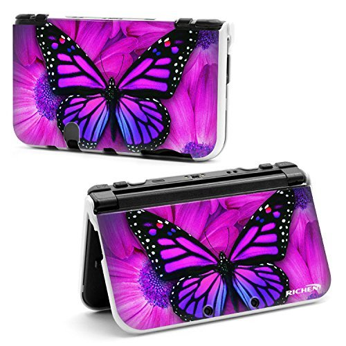 RICHEN Plastic Hard Shell Case for Nintendo 3DS XL LL (Purple Butterfly) by Richen Butterfly Shell