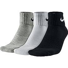 Nike 3PPK Cushion Quarter, Calcetines unisex, paquete de 3 unidades