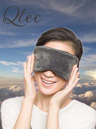 Qtec Schlafmaske, Augenmaske Ultra-weich Memory Schaum, Ergonomisch, Ideal für Schlaflosigkeit und Reisen, Grau