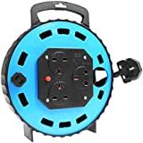 AS Schwabe 616315 13 A 15 m Cable Reel with Thermal Out - Blue/Black