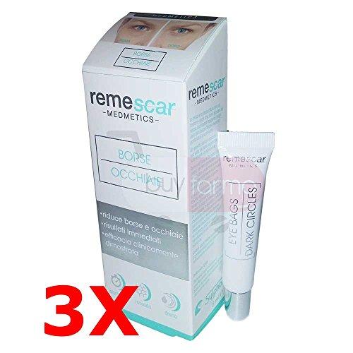 3x remescar medmetics - crema contro borse e occhiaie da 8ml - effetto garantito