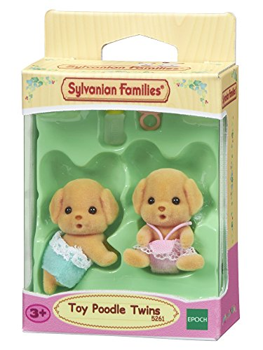 Sylvanian Families 5261 Toy-Pudel Baby, Mini Puppe, mehrfarben -