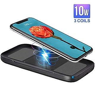 10W Wireless Charger ARINO Qi Ladegerät Kabelloses Schnellladegerät Induktive Ladestation für iPhone X / 8 / 8 Plus, Galaxy S9/ S8 / S8 Plus / S9 / Note 8,Nexus, HTC, LG