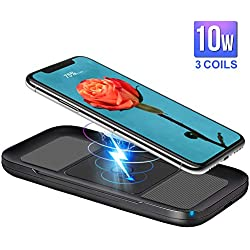 ARINO Wireless Charger Qi Cargador inalámbrico Cargador Rápido Carga inductiva para iPhone X/8/8 Plus, Galaxy S9/S8/S8 Plus/S9/Note 8; Nexus, HTC, LG y Todos los Demás Dispositivos equipados con Qi