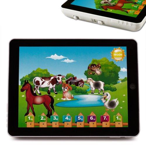 Kinder Tablet Pad Computer Lernspiel Lerncomputer Sprachencomputer ✔4 Sprachen ✔Klaviertöne ✔Tierlaute ✔buntes Motiv ✔einfache Bedienung