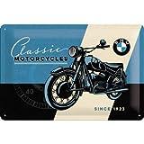 Nostalgic-Art BMW – Classic – cadeau-idee voor autoaccessoires, fans, metalen bord, bont, 20 x 30 cm