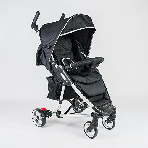 roma-rizzo-stroller-pushchair-buggy-in-black-including-rain-cover-insect-net-xl-hood