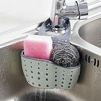 Hunpta Sink Shelf Soap Sponge Drain Rack Bathroom Holder Kitchen Storage Suction Cup (C) : everything five pounds (or less!)