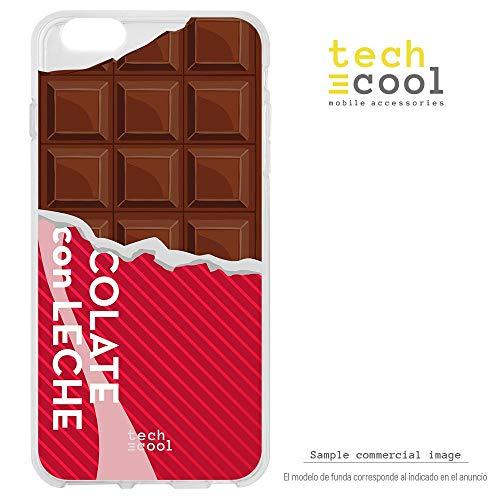 Funnytech® Funda Silicona para Xiaomi Mi 8 Lite [Gel Silicona Flexible, Diseño Exclusivo] Diseño Tableta de Chocolate Vers.2