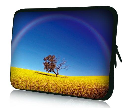 wortek Universal Notebooktasche Schutzhülle aus Neopren für Laptops bis ca. 15,4 Zoll - Feld Baum Bild