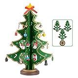 SERWOO (H: 28cm) Mini Albero di Natale Piccolo Verde Decorazioni Natalizie Decorativo Regalo da Tavolo Tavola Scrivania