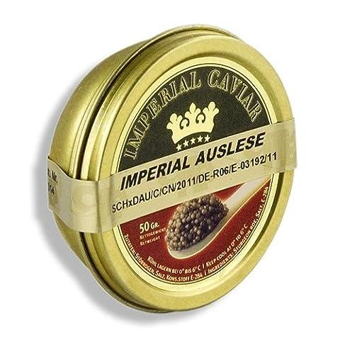Imperial Auslese Kaviar, Kreuzung Amur x Beluga Stör (schrenckii x dau), 50g. | Sparset mit Lacross-Schreibblock