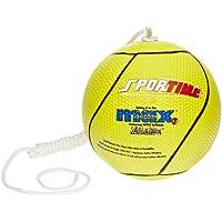 Sportime Max Yeller SofTouch - Balón de fútbol (tamaño y peso oficiales), color amarillo