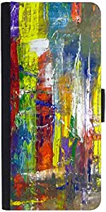 Snoogg Wall Art Abstract Painting Designer Protective Flip Case Cover For Sam...