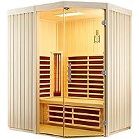 Infraworld–triosol unica1Zirbenkissen cabina de infrarrojos infrarrojos sauna térmica cabina 390132, Breite 154 750.0 watts