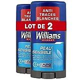 Williams Déodorant Homme Stick Peau Sensible 75ml - Lot de 2