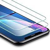 ESR Protector Pantalla para iPhone XR [2 Piezas][Garantía de por Vida], Cristal Templado 9H Dureza, Anti-Huella para Apple iPhone XR de 6.1' 2018