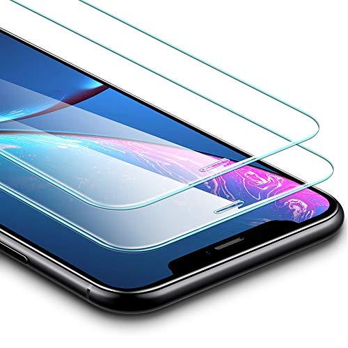 ESR Verre Trempé pour iPhone 11 / iPhone XR (2 Pièces), [Cadre de Repère Offert], [Va avec Coque], Film Protection Écran Premium pour iPhone 6,1 Pouce (2019)