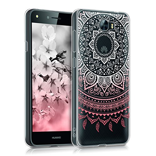 kwmobile Huawei Y6 II Compact (2016) Hülle - Handyhülle für Huawei Y6 II Compact (2016) - Handy Case in Rosa Weiß Transparent