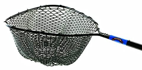 Ranger Hook and Tangle Free Molded Rubber Net Rubber Net with 36-Inch Handle and 22 by 20-Inch Hoop, Black Finish by Ranger