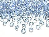 Dekosteine Diamanten hellblau 100 Stück 12mm Durchmesser Deko-Edelsteine Tischdeko Hochzeit Palandi®