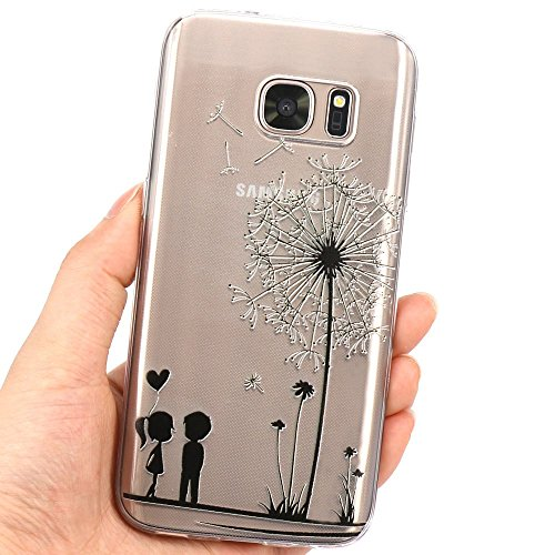 Samsung Galaxy S7 Hülle, JIAXIUFEN Weiß Marmor Serie Flexible TPU Silikon Schutz Handy Hülle Handytasche HandyHülle Etui Schale Case Cover Tasche Schutzhülle für Samsung Galaxy S7 Color16