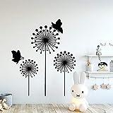 sanzangtang Classique Pissenlit Vinyle Papier Peint Rouleau Meubles décoration Chambre d'enfants décoration de la Maison Stickers muraux 57x68 cm