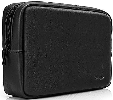 Procase Accessoires Organiseur de sac Power Bank Coque Coque, Electronics Accessory Travel Gear, Organiser, Gestion de câble disque dur Bag–Noir