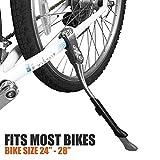 BV Fahrrad Verstellbarer Seite Aluminiumlegierung, Ständer, für Bike 61cm–71,1cm, unisex, silber