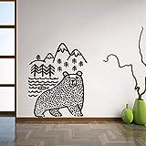 YuanMinglu Ours et Poisson Applique Murale Autocollant pignon Art Applique DIY...