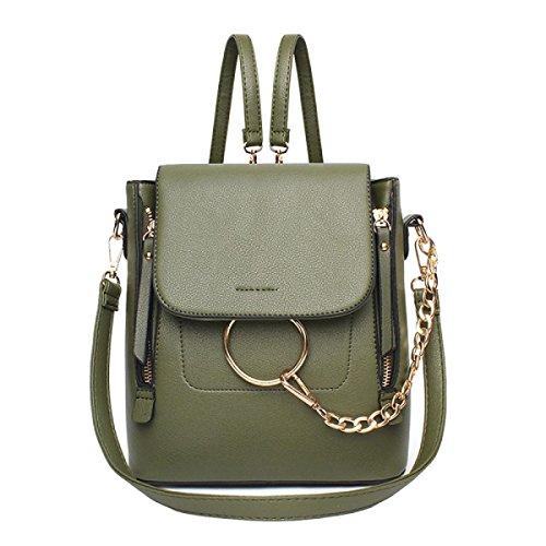 Weibliche Tasche Schulter Tasche Schräge Kreuz Handtasche Einfache Wilde Mode Green