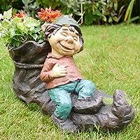 Darthome Ltd Vintage Resin Gnome Elf On Boot Shoe Flower Herb Planter Garden Plant Bucket Pot