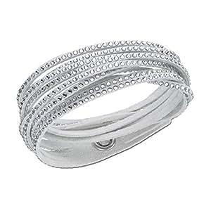 swarovski damen armband leder glas transparent 38 0 cm. Black Bedroom Furniture Sets. Home Design Ideas
