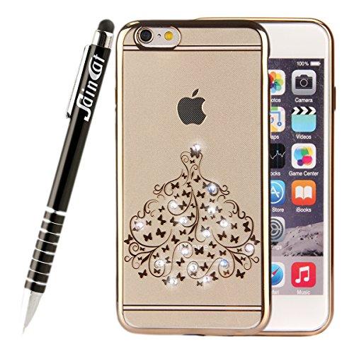 SainCat Coque iPhone 6 Plus, Housse Retour Hard Case Bumper Skin Shell,Brilliant Effect de Protection Pare-Chocs Complete Protecteurs,Transparente Clair TPU, iPhone 6S Plus silicone souple Bling Cryst Jupes